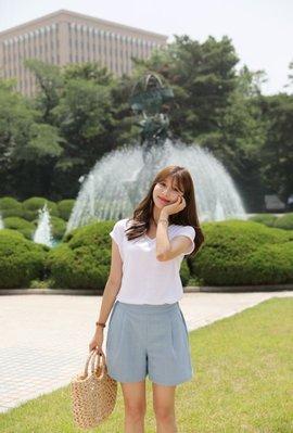 ☆°╮Miko晨曦彩蝶╭°☆【❤️正韓(韓國空運回台) 2021春裝新款夏日舒爽後腰鬆緊彩色棉麻褲❤️】