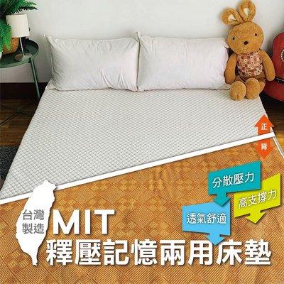 MIT釋壓記憶兩用床墊-單人3尺