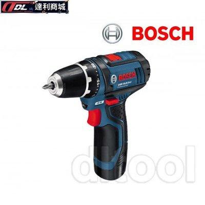 =達利商城= 德國 BOSCH 博世 GSR 10.8-2-LI 10.8V 鋰電電鑽/ 鋰電起子機 2.0ah雙電池