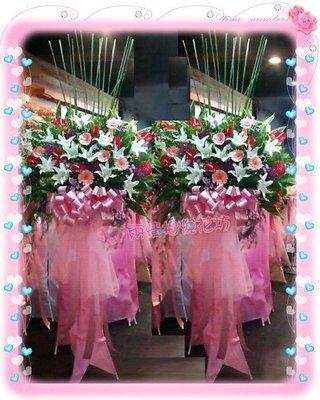 台北【兩情相悅花坊】開幕喬遷婚禮世貿展記者會高架花籃‧台北市網路人氣花店