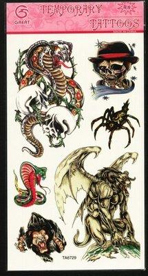 **--紋身貼紙---刺青貼紙---魔獸造型---TATTOOS---TA6729---06