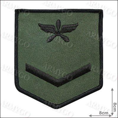 【ARMYGO】空軍士兵階級臂章 (黑框)