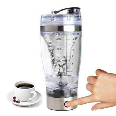 哆啦本鋪 自動攪拌杯電動便攜不銹鋼透明懶人杯子創意蛋白粉健身 D655