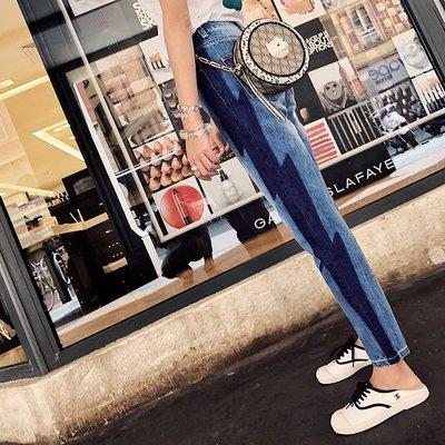 《巴黎拜金女》顯瘦高腰寬鬆休閒韓版小腳直筒鉛筆九分少女褲