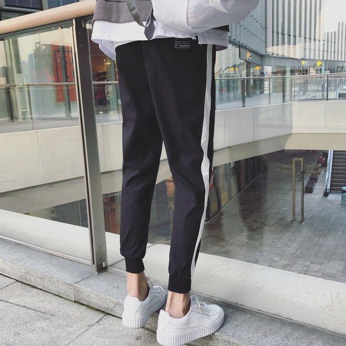 休閒褲  新品男裝  修身薄款小腳褲  長褲子—莎芭