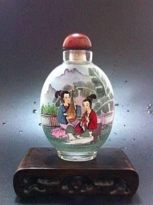 仕女圖1內畫鼻煙壺中國特色手工藝品中國風外事商務小禮品手繪送長輩 壺說73