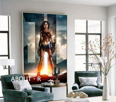 ABOUT。R   神力女超人掛畫漫威掛畫 DC正義聯盟掛畫客廳裝飾畫簡約現代玄關書房臥室網吧英雄人物壁掛畫
