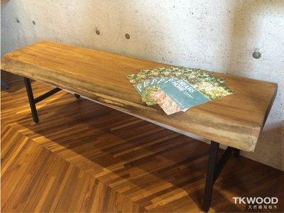【緬甸柚木-TKWOOD】柚木桌椅・原木椅・家具.黑鐵腳(工業風格)