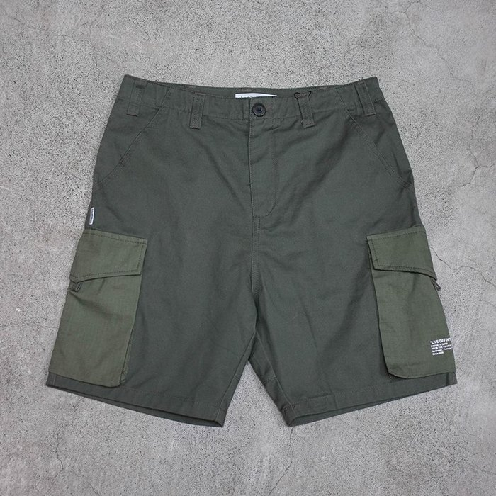 車庫服飾 -- SHADOW 2018SS Pocket Work Shorts 兩側口袋軍裝短褲 軍綠色賣場