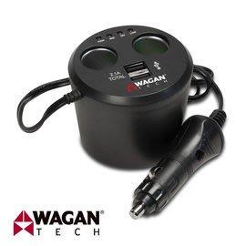【皓翔行車監控館】美國 WAGAN 雙孔USB點菸器擴充座 (2537-5)