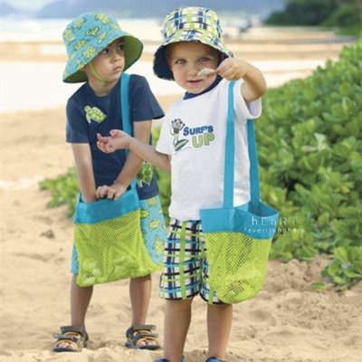 【可愛村】兒童學習沙灘寶物收納網袋 收納袋 寶物袋 尋寶袋 沙灘袋 沙灘網袋