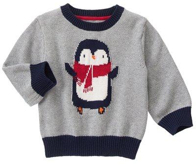 *DORA BABY* Gymboree 全新正貨 4Y 小男生針織毛衣 (灰色+企鵝)【現貨】