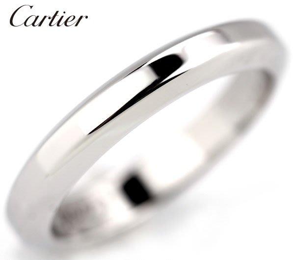 *保證真貨~知名品牌Cartier卡地亞-BALLERINE經典款婚戒 PT950鉑金戒 歐洲圍45號~超低價起標