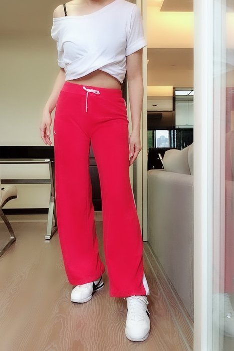 *Beauty*NIKE紅白毛巾料運動長褲  600元PH
