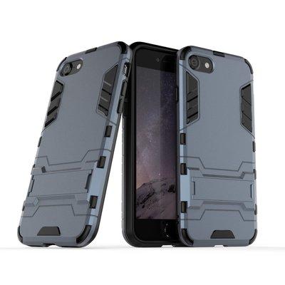 【mStore】iPhone 9 SE2 (2020) 4.7吋 支架 鎧甲殼 雙料保護硬殼 紅藍黑