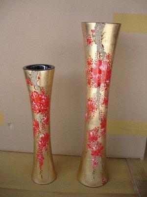 小o結緣館仿古傢俱............漆器花瓶 擺飾瓶(漆器) (二件一組)