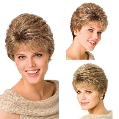 歐美時尚流行假發短發卷發頭套頭套金色wig