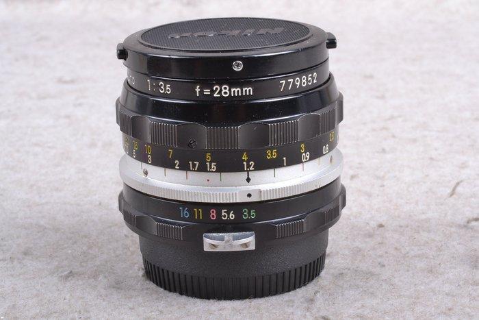 【品光攝影】 Nikon NON-Ai 28mm F3.5 手動鏡 定焦 FI#57741J