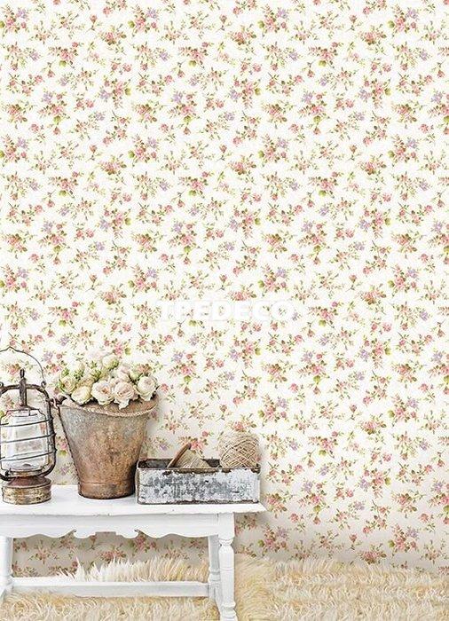 【大台北裝潢】PT馬來西亞現貨壁紙* 環保建材  鄉村風花朵(3色) 每支580元