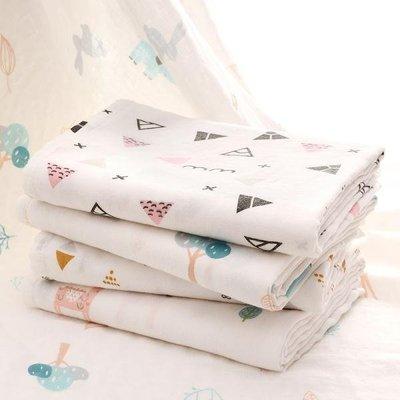 嬰兒紗布浴巾夏季薄款竹棉兒童包巾寶寶蓋毯新生兒超柔軟吸水抱被