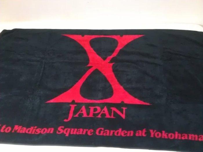 X Japan 2014 橫濱演唱會週邊 浴巾 大毛巾 Yoshiki