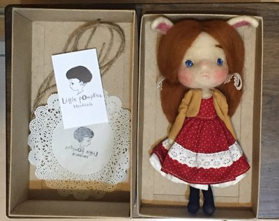 二手 馬來西亞 Little pOupEes 羊毛氈 手工娃娃