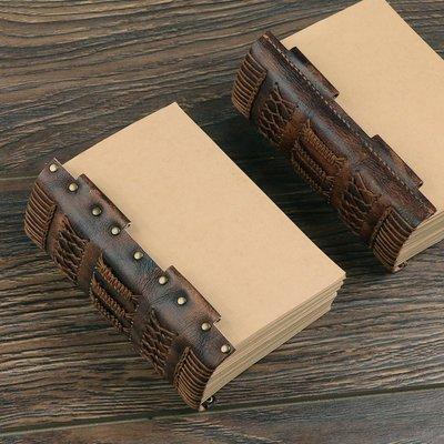 ~皮皮創~A4鉚釘款更換本芯  純手工一針一線縫製 連側皮