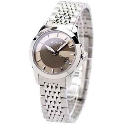 GUCCI 古馳 手錶 G-Timeless 系列 義大利 極簡 對錶 小尺寸 生日 禮物 情人節 YA126503