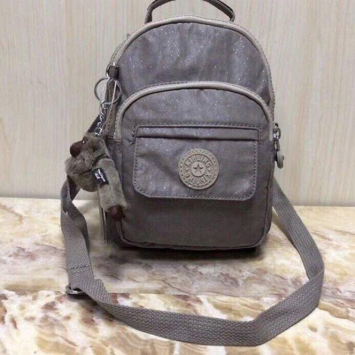 Kipling 猴子包 mini HB7349 星空灰 多用款肩背 斜背 側背 輕量雙肩後背包 小號 防水 限時優惠