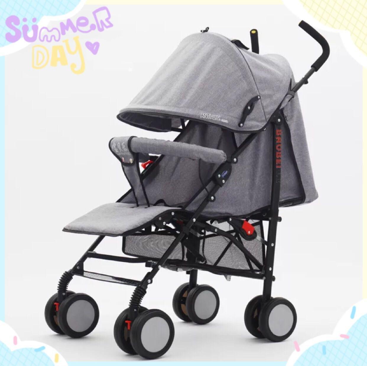高級萊卡布嬰兒手推車 輕便嬰兒推車 可上飛機 《伊凡斯精品》