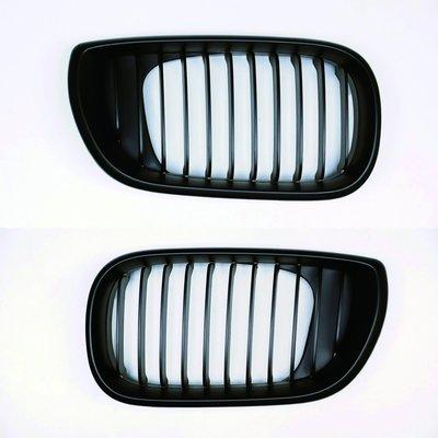 【PA LED】BMW E46 4門 4D 01-04 小改款後 消光黑 霧黑 平光黑 外銷品 水箱罩 鼻頭