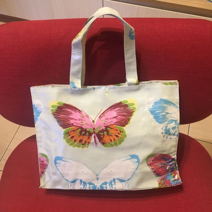 德國獅牌瓷器 Hutschenreuther 優雅蝴蝶花色*環保防水購物手提袋*