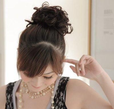 【促銷】紗婷‧Satine【造型髮包Q7】小資女孩髮包‧QQ捲髮丸子頭。甜美造形特價