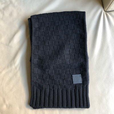 [熊熊之家3]保證正品 Louis Vuitton LV 黑包 100% CASHMERE 圍巾