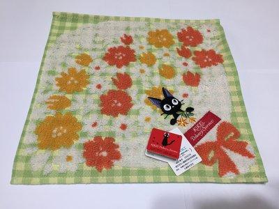 日本 小黑貓花束 小毛巾