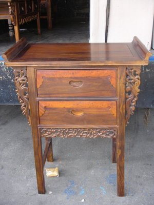 小o結緣館仿古傢俱.....翹頭中元寶桌''供桌'藝品桌'玄關桌78x40x106