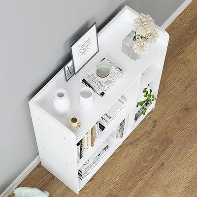 書架簡約現代經濟型置物架省空間落地創意學生臥室收納小書柜