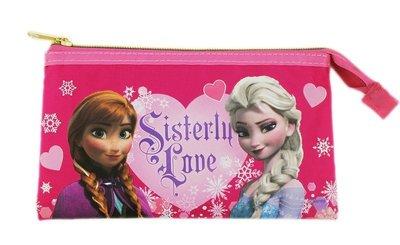 【卡漫迷】 冰雪奇緣 觸控式 手機袋 ㊣版 多功能 萬用袋 化妝包 筆袋 Frozen 艾莎 手拿包 安娜 護照 存摺