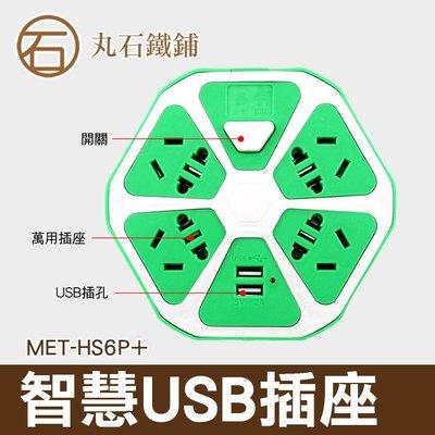 《丸石鐵鋪》多孔智慧插座 USB延長線 智慧USB插座 創意插座 創意橘子插座 MET-HS6P+