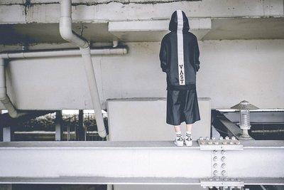 ☆LimeLight☆ VAST A/W OG Word Rebbon Hoodie 緞帶撞色 黑/灰 S M L XL