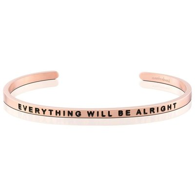 MANTRABAND 台北ShopSmart直營店 Everything Will Be Alright 玫瑰金一切OK