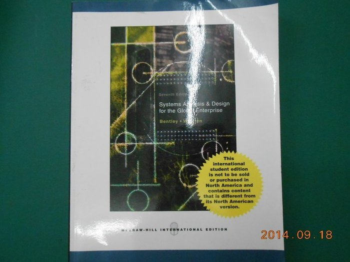 《Systems Analysis & Design for the Global Enterprise》八成新 Sev