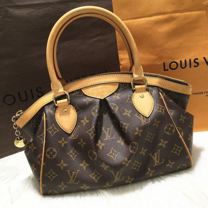 二手旗艦 Louis Vuitton LV M40143 字紋 皺褶 水餃包 手提包 (公益店)27801