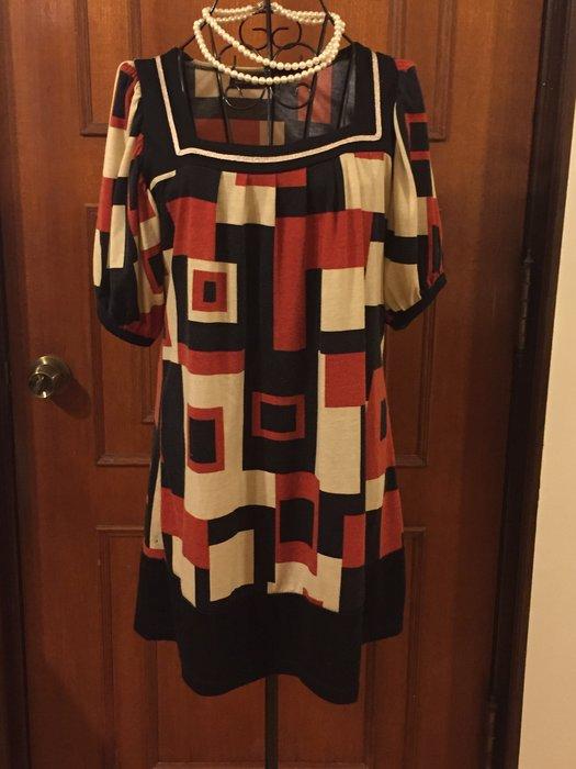 歐美精品 - 時尚幾何設計長版上衣 / 短洋裝(促銷商品)