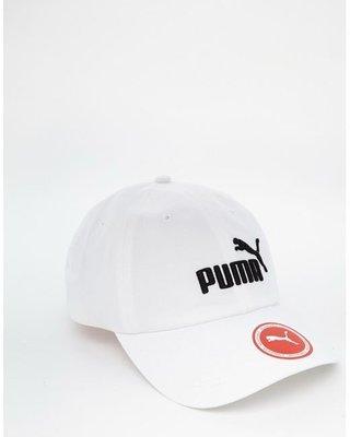 【KA】Puma ESS Cap In White 5291910 電繡 白色 老帽 黑字 現貨 彎帽
