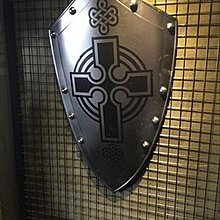 歐洲中世紀複古武士歐式鐵制盾牌酒吧咖啡西餐書房廳掛飾
