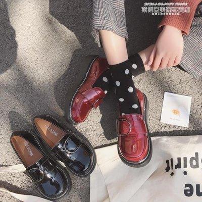 娃娃鞋大頭鞋女韓版學生原宿風小皮鞋日繫軟妹方扣娃娃單鞋百搭