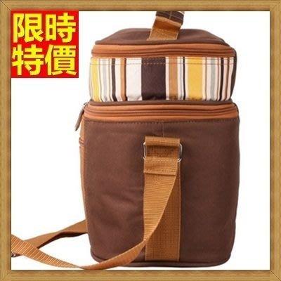 野餐包 2人餐具組 肩背手提包-保溫特別巧克力色外出郊遊造型野餐包 68ag41[獨家進口][米蘭精品]