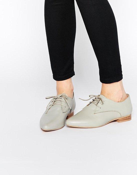 ◎美國代買◎ASOS尖楦頭的鞋帶款文青學院風鞋帶平底牛津鞋休閒鞋~歐美街風~大尺碼~