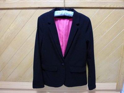 ☆☆現貨在台 免國際郵資唷☆瑞典H&M 黑色基本款超Fit西裝外套☆☆